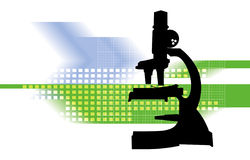 Microscope. Illustration Royalty Free Stock Photography