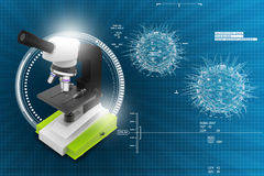 Microscope on abstract background Stock Photo