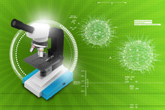 Microscope on abstract background Stock Images
