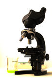 Microscope for analysis Royalty Free Stock Photography