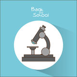 Microscope of back to school design Royalty Free Stock Image