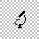 Microscope icon flat vector illustration