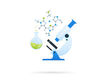 Microscope blanc illustration stock
