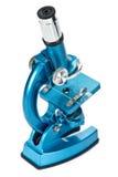 Microscope bleu image stock