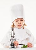 Microscope Boy Stock Photos