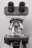 Microscope closeup. With shallow depth of field royalty free stock photography