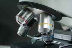 Microscope closeup Royalty Free Stock Image