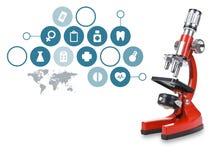 Microscope de laboratoire Scientifique et soins de santé illustration stock