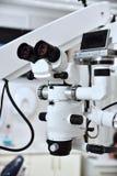 Microscope in dental office Stock Photo