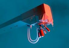 Microscope device concept Stock Photo