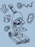 Microscope Doodle Royalty Free Stock Image