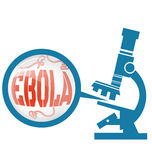 Microscope with Ebola virus Stock Images