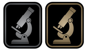Microscope emblem Stock Photography