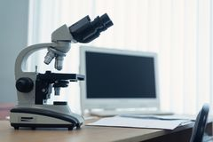 Microscope images stock