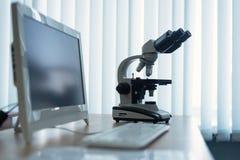Microscope photos stock