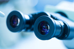 Microscope Eyepiece Stock Photo