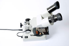 Microscope and hard drive, disc recovery Stock Photography