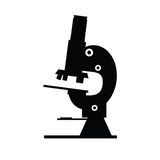 Microscope icon black vector Royalty Free Stock Image