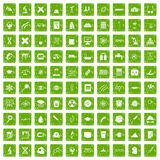 100 microscope icons set grunge green. 100 microscope icons set in grunge style green color isolated on white background vector illustration Royalty Free Illustration