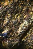 Microscope image of colorful copper ore Stock Photos