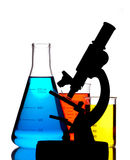 Microscope in laboratory Stock Photography