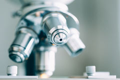 Microscope in Laboratory Royalty Free Stock Photo