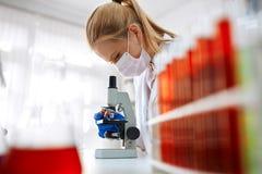 Microscope laboratory royalty free stock photography