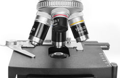 Microscope lens Stock Photography