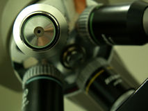 Microscope lens from laboratory Royalty Free Stock Photography