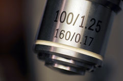 Microscope lens macro Royalty Free Stock Photos