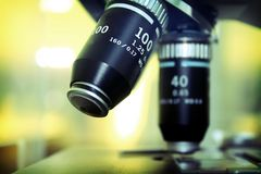 Microscope lenses  Stock Images