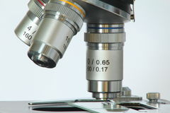 Microscope lenses Stock Photo