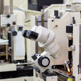 Microscope for manufacturing Stock Image