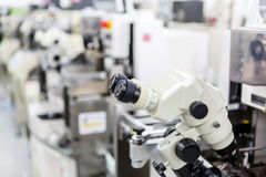 Microscope for manufacturing Royalty Free Stock Photography