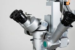 Microscope for medical researches Royalty Free Stock Photo