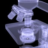 Microscope. X-ray render Royalty Free Stock Photo