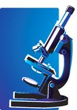 Microscope ready to focus Stock Photo