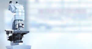 Microscope. Scientific microscope in laboratory. Health care background Royalty Free Stock Photos