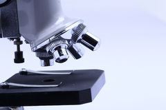 Microscope for scientist and students laboratory Stock Image