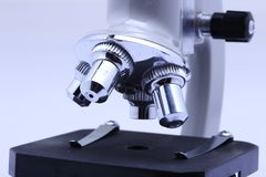 Microscope for scientist and students laboratory Royalty Free Stock Image