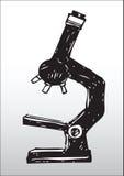 microscope silhouette 库存照片