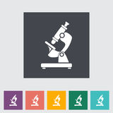 Microscope. Single flat icon Vector illustration Stock Images