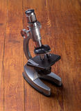 Microscope on table Stock Photos