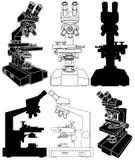Microscope Vector 01. Scientific Microscope Isolated Illustration Vector Stock Image