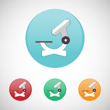 Microscope vector icon set. Royalty Free Stock Photography