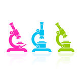Microscope vector icon Royalty Free Stock Photos