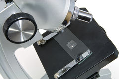 Microscope on white Royalty Free Stock Photos
