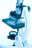 Microscope on white Royalty Free Stock Image