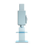 Microscope  on white background Royalty Free Stock Photography