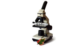Microscope on white Royalty Free Stock Photo